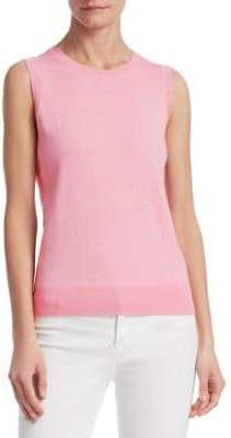 Saks Fifth Avenue COLLECTION Lurex Sleeveless Shell