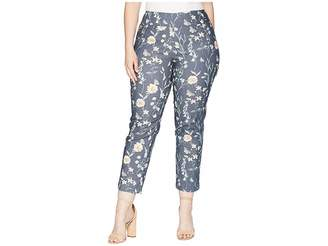 Lisette L Montreal Plus Size Japanese Garden Ankle Pants Curvy Collection Women's Casual Pants