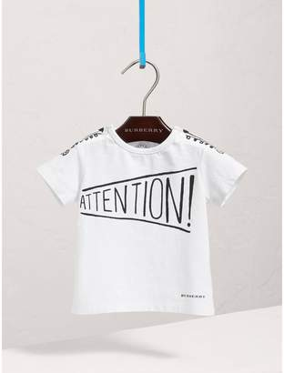Burberry Attention Print Cotton T-shirt