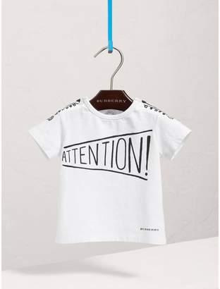 Burberry Attention Print Cotton T-shirt