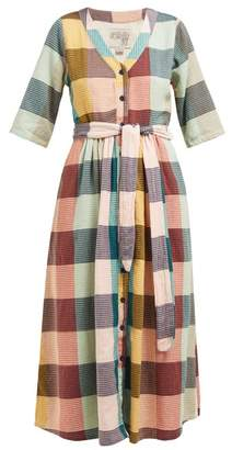 Ace&Jig Leelee Checked Cotton Midi Dress - Womens - Multi