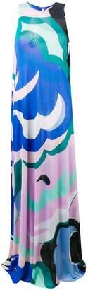 Emilio Pucci abstract print maxi dress