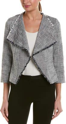 Karl Lagerfeld Paris Open-Front Tweed Jacket