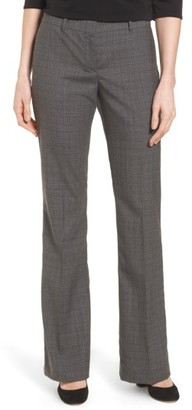 Women's Boss Tulea3 Plaid Stretch Wool Suit Trousers $275 thestylecure.com