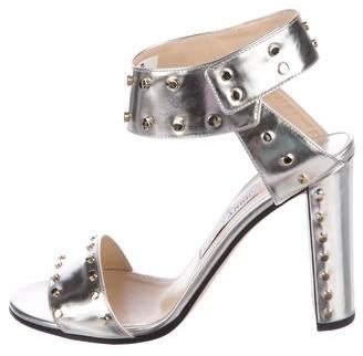 Jimmy Choo Veto Leather Sandals