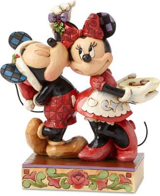 Jim Shore Mickey and Minnie Mistletoe Figurine