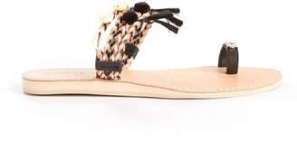 Cocobelle Embellished Toe Loop Slide Sandal