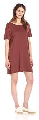 Enza Costa Women's Cotton Jersey Short Sleeve Boy Tee Dress