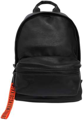 Bikkembergs Hide Faux Leather & Rubber Backpack