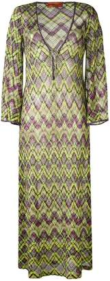 Missoni Mare embroidered long-sleeve cover-up