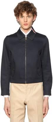 Thom Browne Zip-Up Cotton Mackintosh Jacket