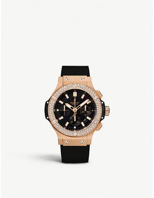 Hublot Big Bang rose gold, diamond and kevlar chronograph watch