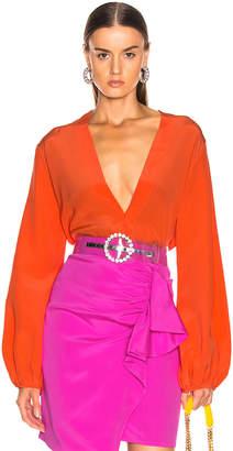 Silvia Tcherassi Australia Blouse in Tangerine   FWRD
