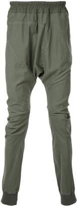 Julius loose fit drop-crotch trousers