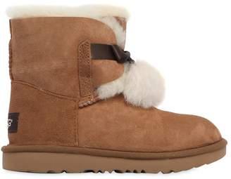 UGG Gita Shearling Boots W/ Pompoms