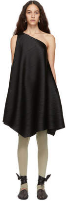 Pleats Please Issey Miyake Black Cross Grain Dress