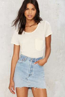 After Party by Nasty Gal Drifter Denim Skirt $78 thestylecure.com