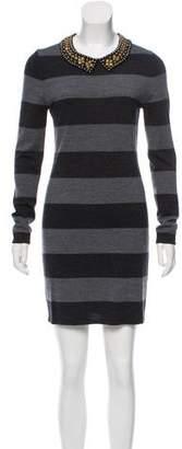 Gryphon Striped Wool Dress