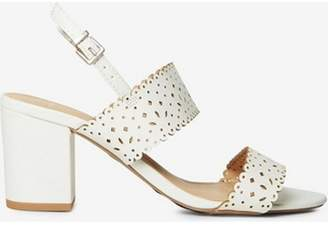 Dorothy Perkins Womens Wide fit White 'Sugar' Heeled Sandals