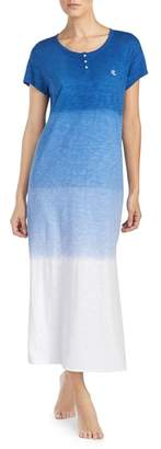 Lauren Ralph Lauren Dip Dye Long Nightgown