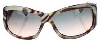 Ungaro Horn Square Sunglasses