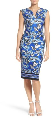Women's Eci Paisley Scuba Sheath Dress $88 thestylecure.com