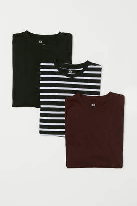 H&M 3-pack T-shirts Regular fit - Red