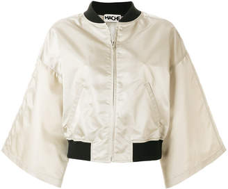 Hache wide sleeve bomber jacket
