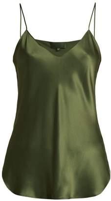 Nili Lotan - Isabella Silk Cami Top - Womens - Khaki