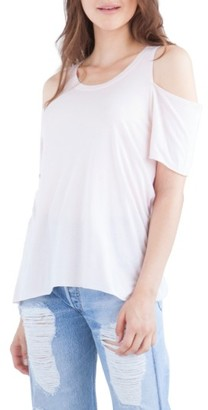 Women's Lamade Cold Shoulder Short Sleeve Tee $48 thestylecure.com