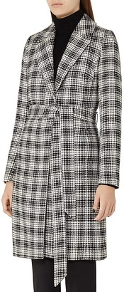 REISS Rowan Textured Check Coat $620 thestylecure.com