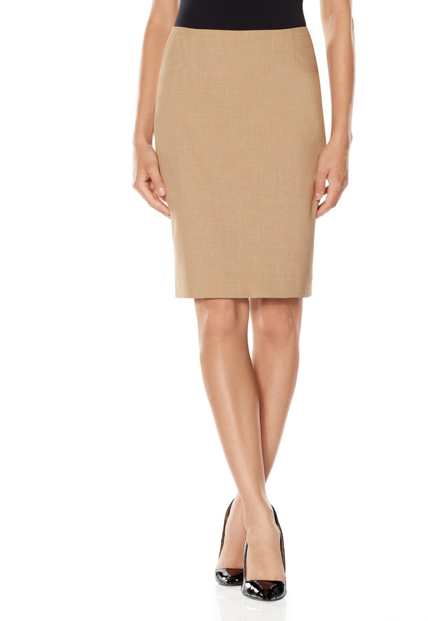 The Limited Collection Angled Inset Pencil Skirt