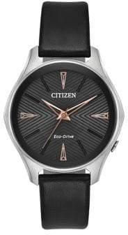Citizen Eco-Drive Bold Vegan Leather Strap Watch