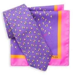 Etro Two-Piece Silk Tie & Pocket Square Box Set