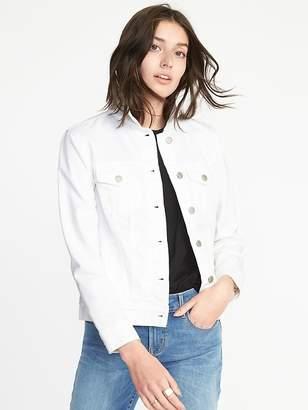 Old Navy Clean-Slate White Denim Jacket for Women