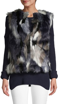 Bagatelle Multicolored Faux Fur Vest