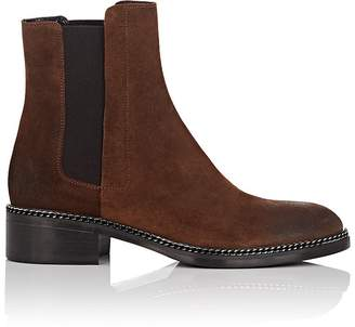 Barneys New York Women's Chain-Embellished Suede Chelsea Boots