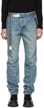 Sacai Blue Belt Jeans