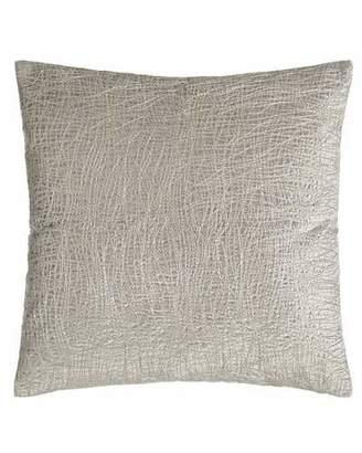 "Donna Karan Home Metallic Embroidered Velvet Pillow, 18""Sq."