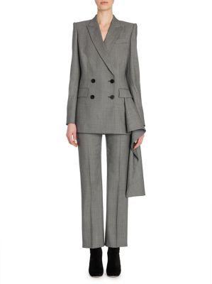 Alexander McQueen Birdseye Wool Suit Jacket $2,675 thestylecure.com