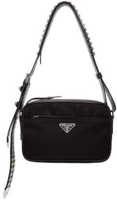 Prada Black Studded Nylon Bag