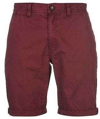 Soul Cal SoulCal Mens Deluxe Chino Shorts Pants Trousers Bottoms Cotton Zip Summer Casual