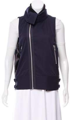 Sacai Funnel Neck Zip-Up Vest