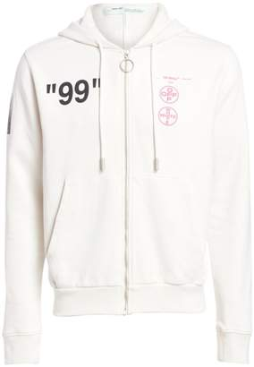 Off-White Off White Boat Graphic Zip Hoodie