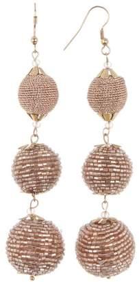 Panacea Peach Metallic Wrapped Linear Earrings