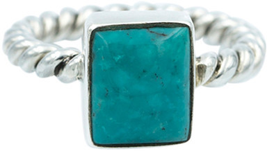 Exex Design Jewelry Sterling Silver Naples Cabochon Turquoise Ring