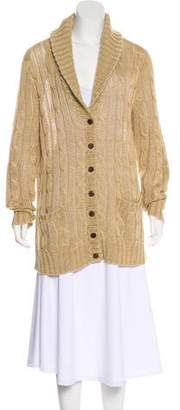Ralph Lauren Shawl Collar Cable Knit Cardigan