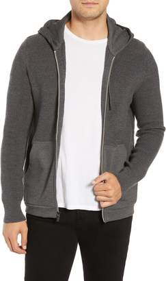 Bugatchi Zip Front Wool Hoodie