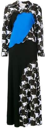 Marni floral paneled maxi dress