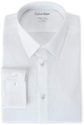 Calvin Klein White Extreme Slim Fit Stretch Dress Shirt
